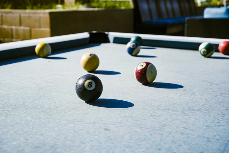 Billiard balls in need of cleaning