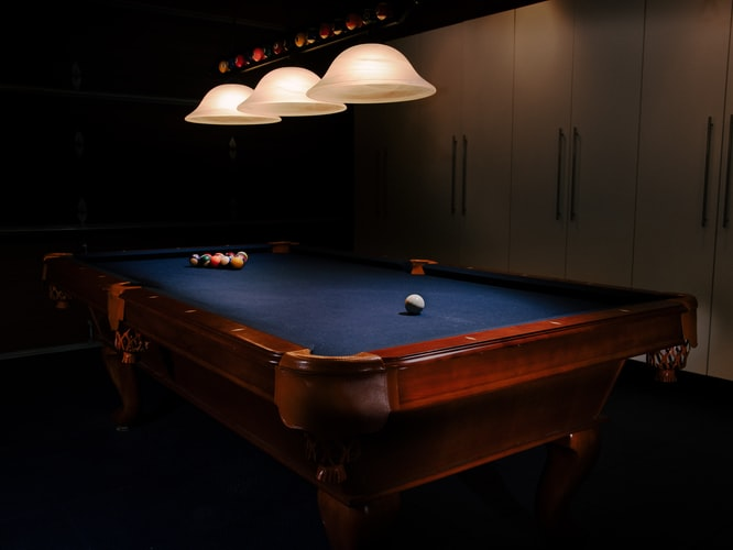An expensive looking pool table