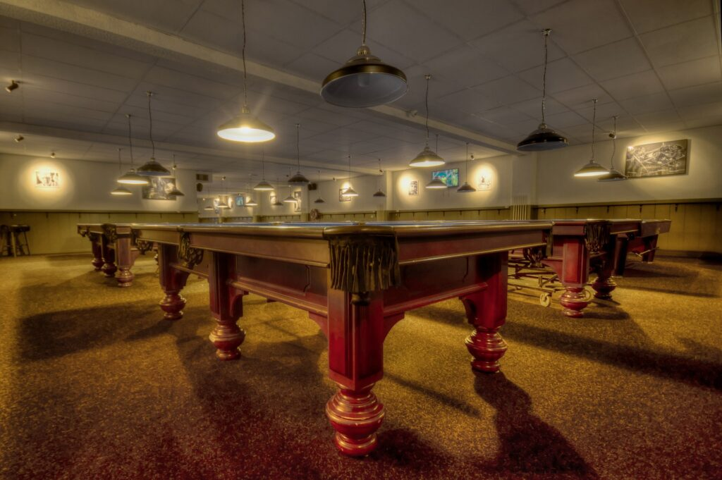 Pool tables at the right level