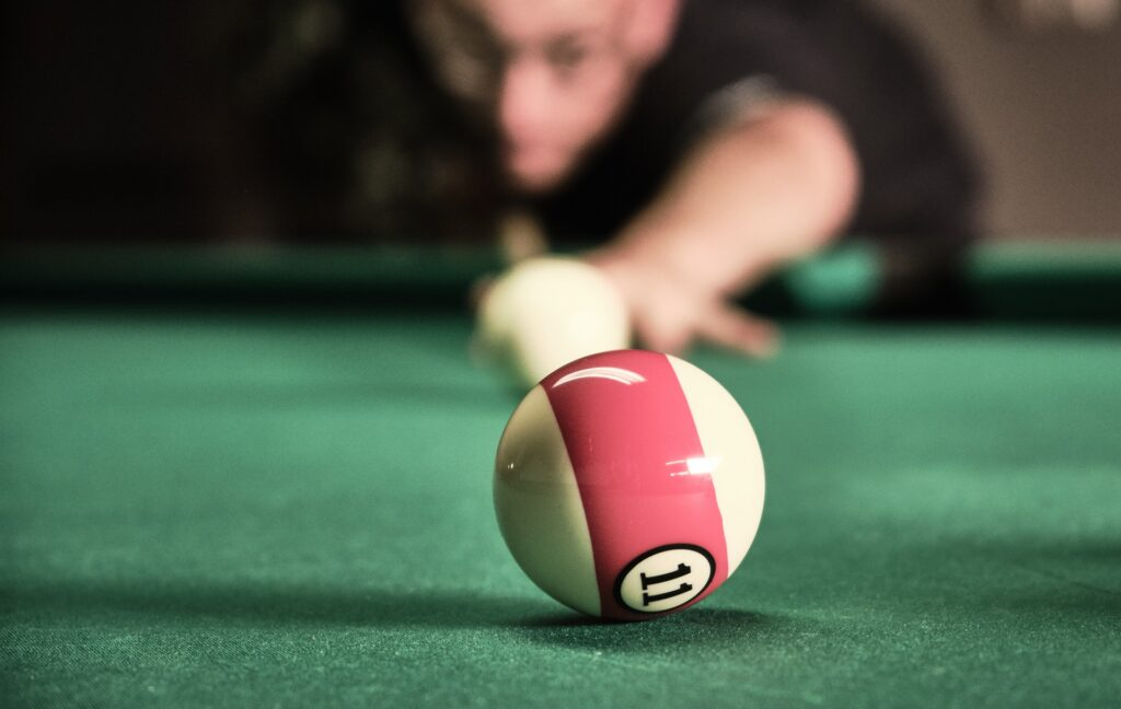 Selective focus of billiard ball