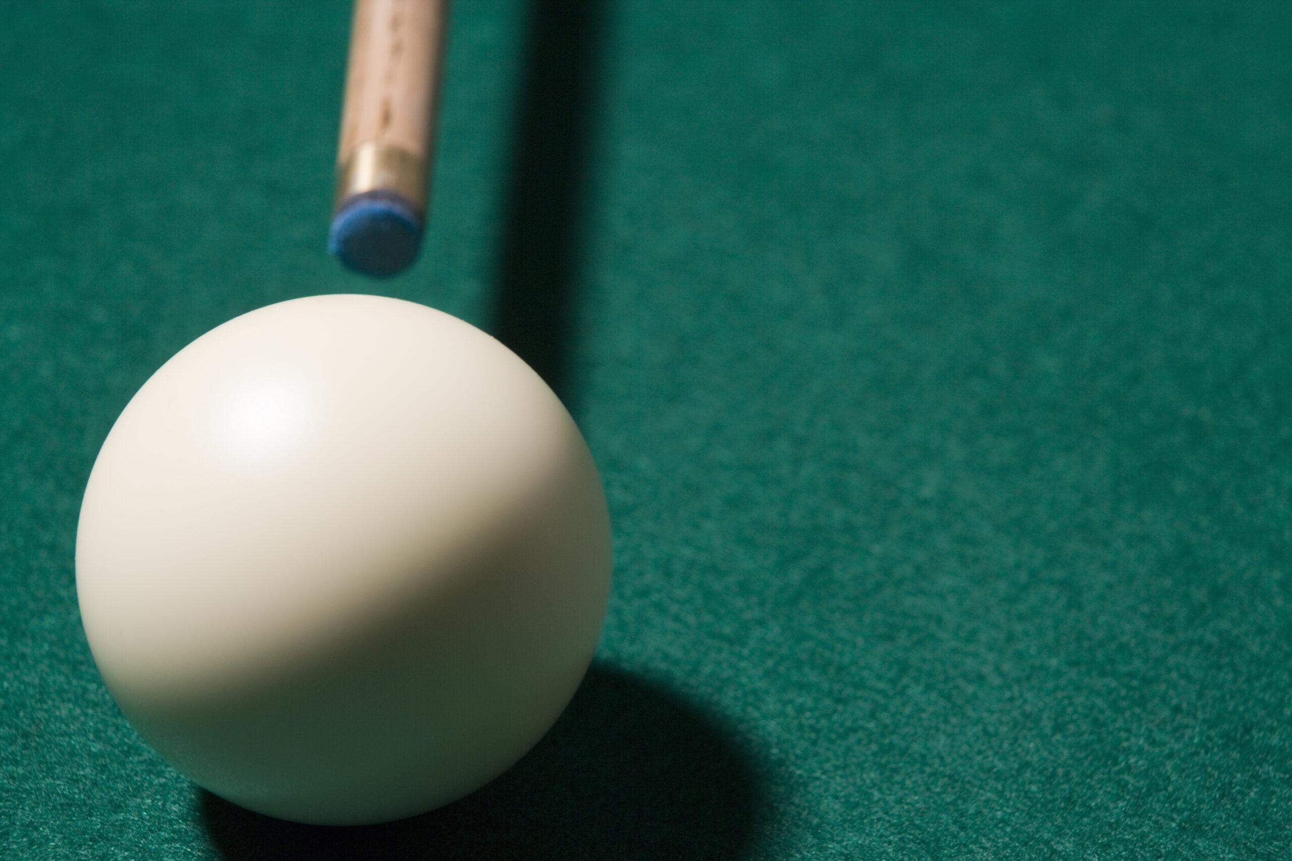 Pool cue ball